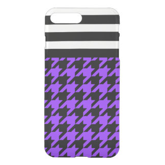 Violet Houndstooth w/ Stripes 2 iPhone 7 Plus Case