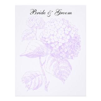 Violet Hydrangea Letterhead