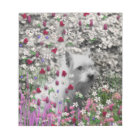 Violet in Flowers – White Westie Dog Notepad