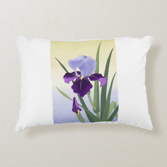 "Violet Irises Pillow 16"" x 12"""