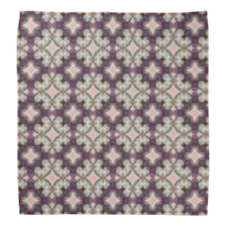 Violet Kaleidoscope Pattern Bandana