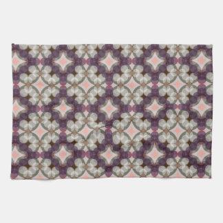 Violet Kaleidoscope Pattern Kitchen Towel