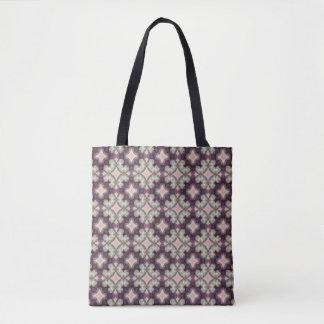 Violet Kaleidoscope Pattern Tote Bag