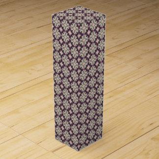 Violet Kaleidoscope Pattern Wine Gift Box
