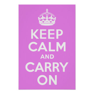 Violet Keep Calm and Carry On Poster