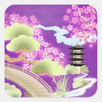 Violet Kimono Square Sticker