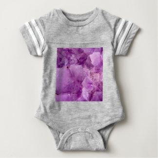 Violet Kryptonite Crystals Baby Bodysuit