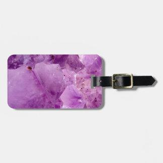 Violet Kryptonite Crystals Luggage Tag