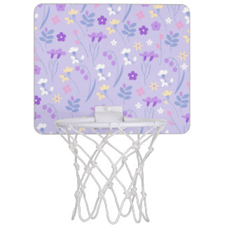 violet,lavender,cute,floral,pink,purple,pattern,gi mini basketball hoop