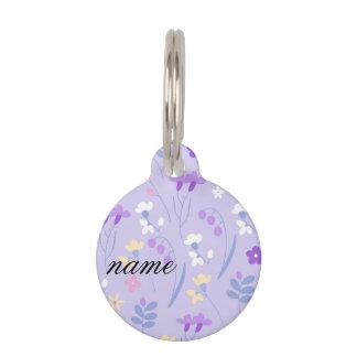 violet,lavender,cute,floral,pink,purple,pattern,gi pet ID tag