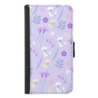 violet,lavender,cute,floral,pink,purple,pattern,gi samsung galaxy s5 wallet case