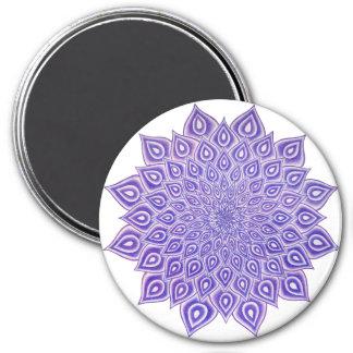 Violet Lotus Crown Chakra Mandala Magnet