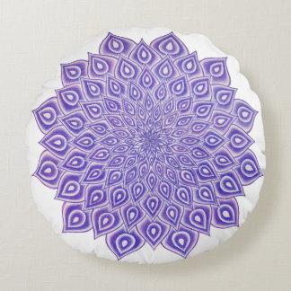 Violet Lotus Crown Chakra Mandala Pillow