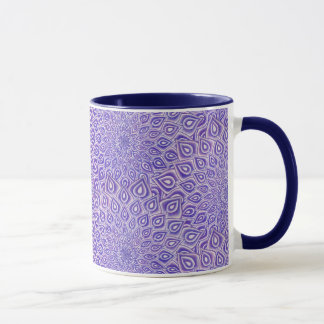 Violet Lotus Crown Chakra Mandala Two Toned Mug