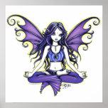 """""""Violet Lotus"""" Yoga Faery Poster"""