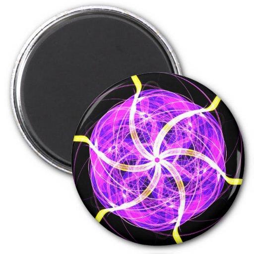 Violet mandala magnet