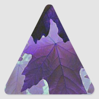 violet maple triangle sticker