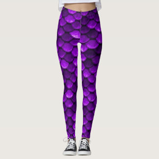 Violet Mermaid Scales Leggings