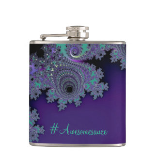 Violet Mint Fractal Flasks