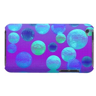 Violet Mist - Cyan and Purple Abstract Light Barely There iPod Case