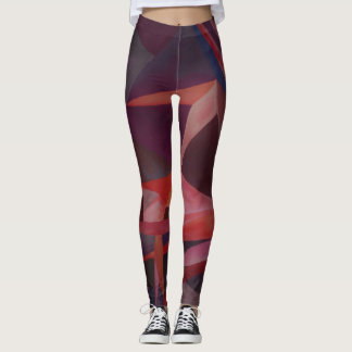 Violet Monochromatic cubism Leggings