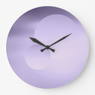 Violet Moon and Planet Wall Clock