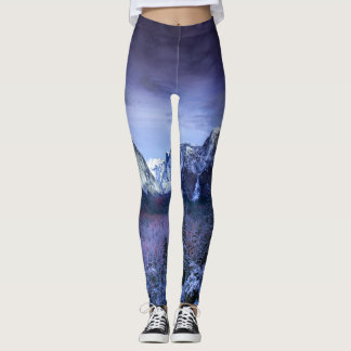 Violet Mountain Tops Leggings