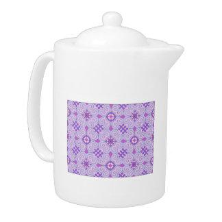 Violet Patterned Large Teapot