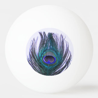 Violet Peacock Feather Ping Pong Ball