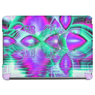 Violet Peacock Feathers, Abstract Crystal Mint Case For iPad Air
