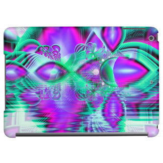 Violet Peacock Feathers, Abstract Crystal Mint Cover For iPad Air