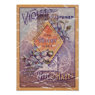 Violet Perfumed - 1903- distressed Poster