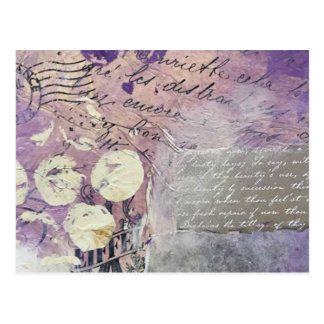 Violet Petals - Collection Postcard