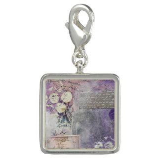 Violet Petals Stamped - Charm