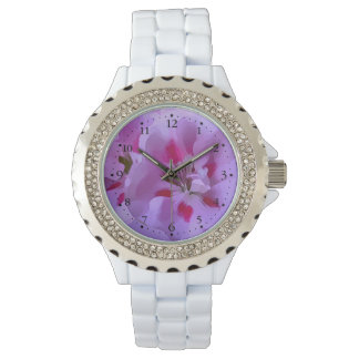 Violet Pink Abstract Hibiscus Flower Watch