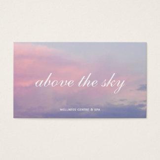 Violet pink clouds zen sunset sky photograph card