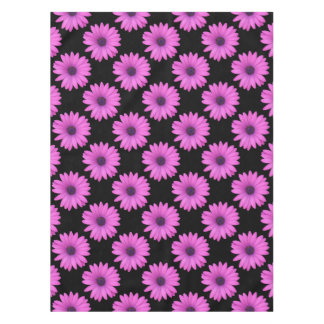 Violet Pink Osteospermum Flower Isolated on Black Tablecloth
