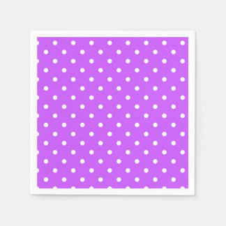 Violet polka dot glamour modern paper napkin