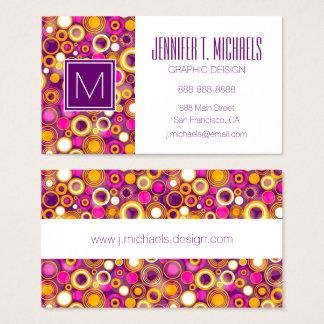Violet Polka Dot Pattern Business Card