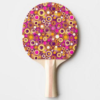 Violet Polka Dot Pattern Ping Pong Paddle