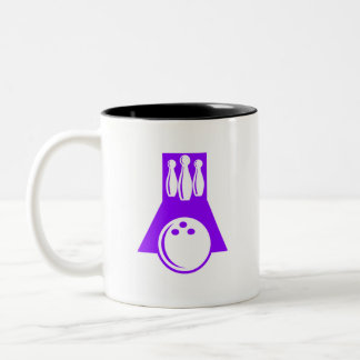 Violet Purple Bowling Two-Tone Coffee Mug