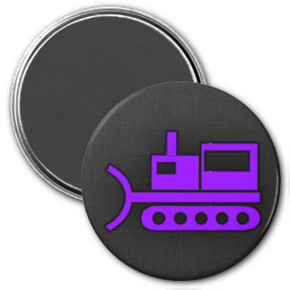 Violet Purple Bulldozer Magnet