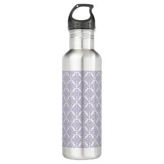 Violet Purple Damask Pattern Custom Name 710 Ml Water Bottle