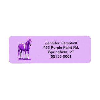 Violet Purple Dripping Wet Paint Horse