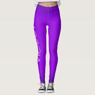 Violet, purple fashinable leggings