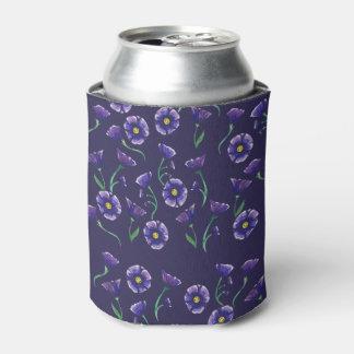 Violet Purple Flower Can Cooler