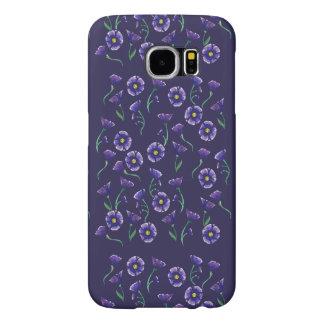 Violet Purple Flower Samsung Galaxy S6 Cases