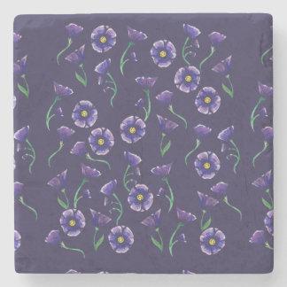 Violet Purple Flower Stone Beverage Coaster