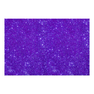 Violet Purple Glitter Sparkle Custom Design Poster