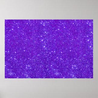 Violet Purple Glitter Sparkle Custom Design Poster